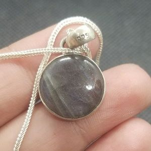 925 silver handmade pendant chain included